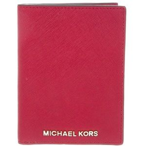 Michael Kors Red Passport Case